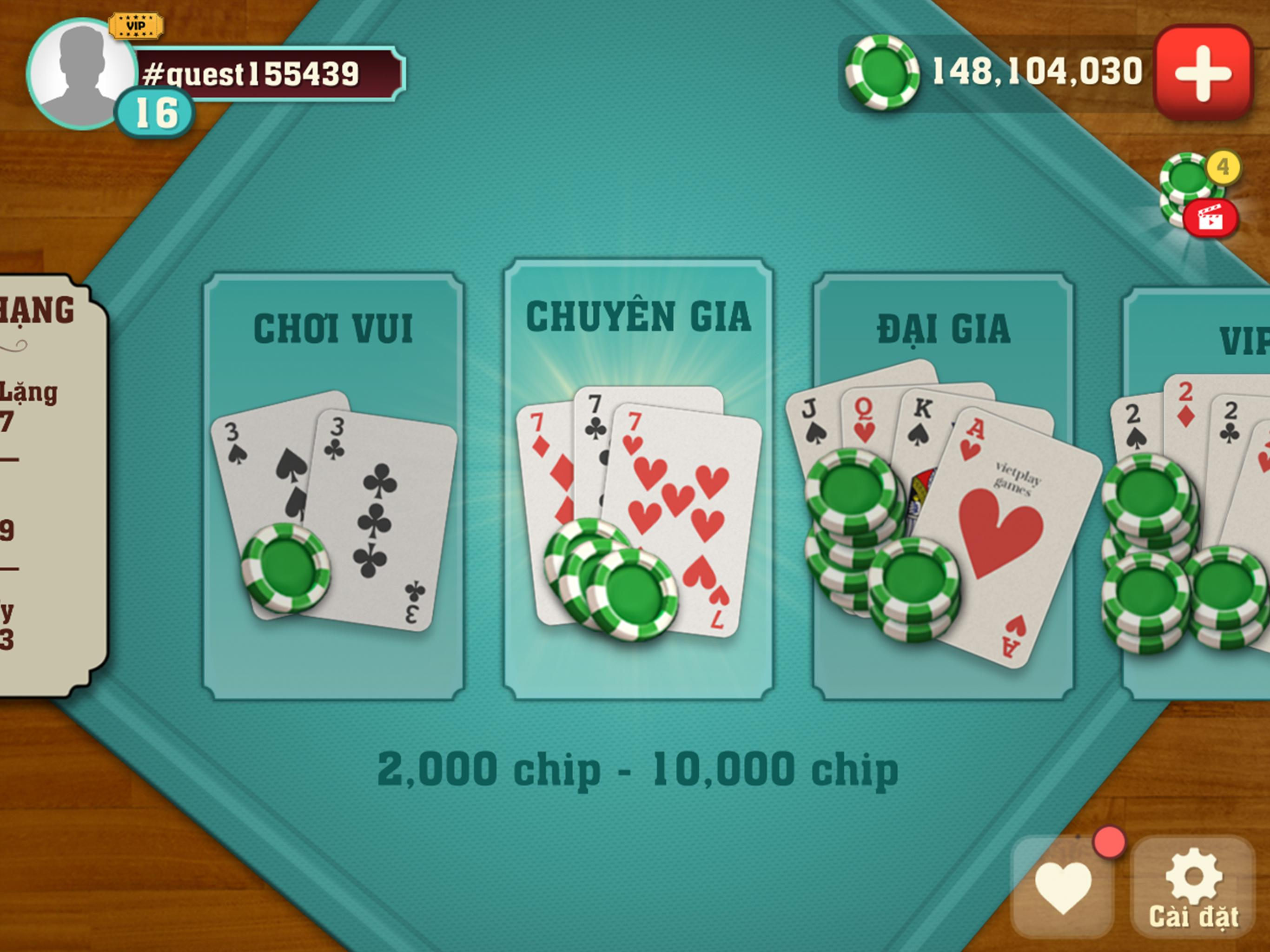 Thirteen Cards (Tien Len) 1.9.24 Screenshot 6