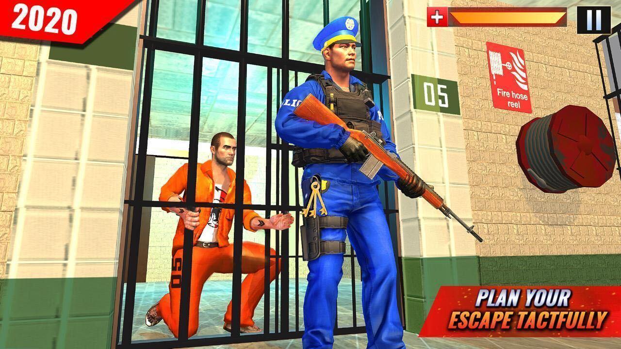 US Police Grand Jail break Prison Escape Games 1.9 Screenshot 1