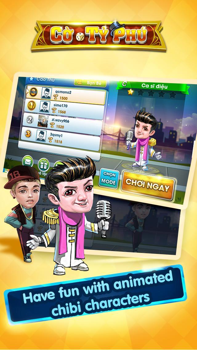 Cờ Tỷ Phú Co Ty Phu ZingPlay - Game Cờ 3.4.11 Screenshot 10