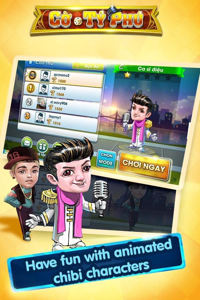 Cờ Tỷ Phú Co Ty Phu ZingPlay - Game Cờ 3.4.11 Screenshot 16