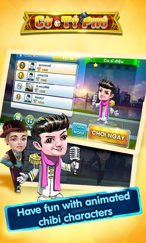 Cờ Tỷ Phú Co Ty Phu ZingPlay - Game Cờ 3.4.11 Screenshot 4