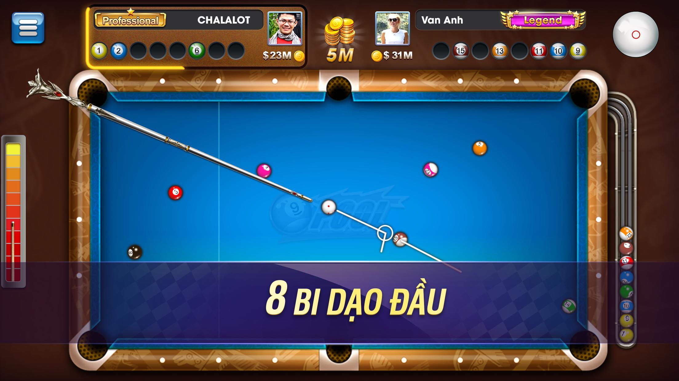 Bida Bi-a Phỏm  - Bida 8 Bi - ZingPlay screenshot