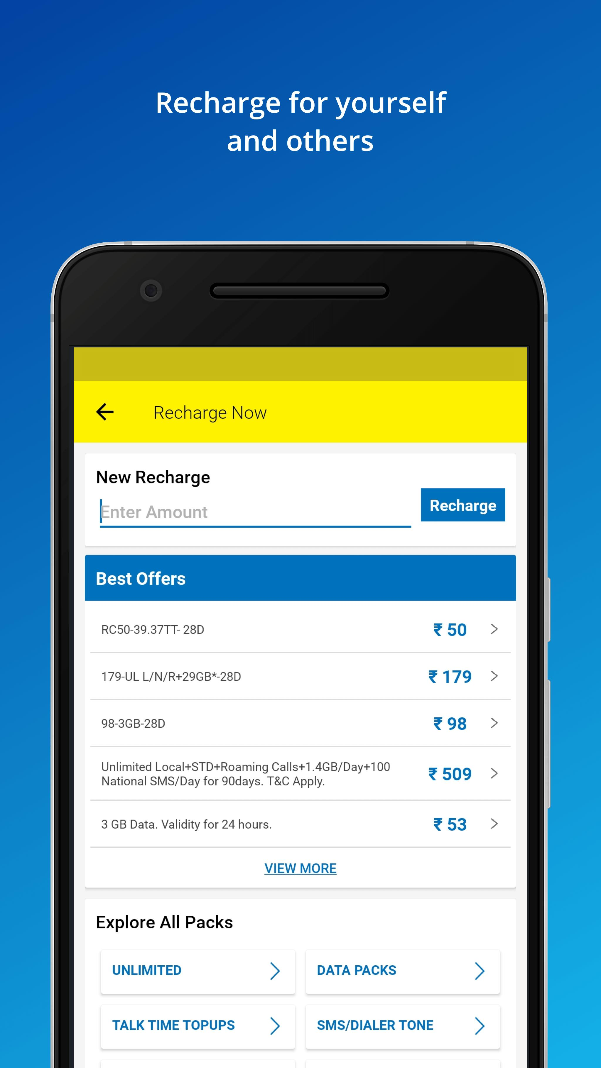 My Idea Recharge and Payments 5.1 Screenshot 2