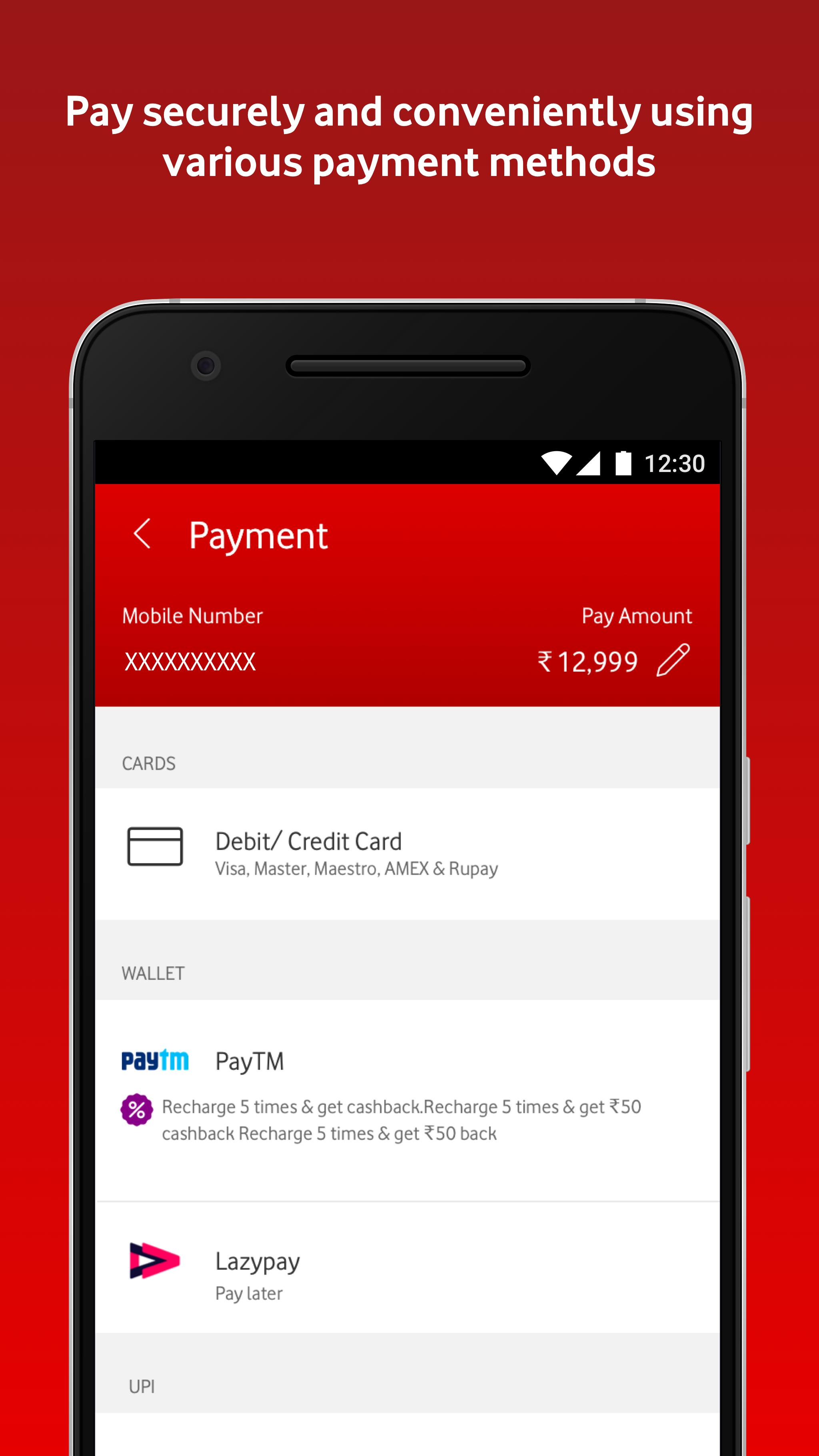 MyVodafone (India) - Online Recharge & Pay Bills 8.0.3.1 Screenshot 4