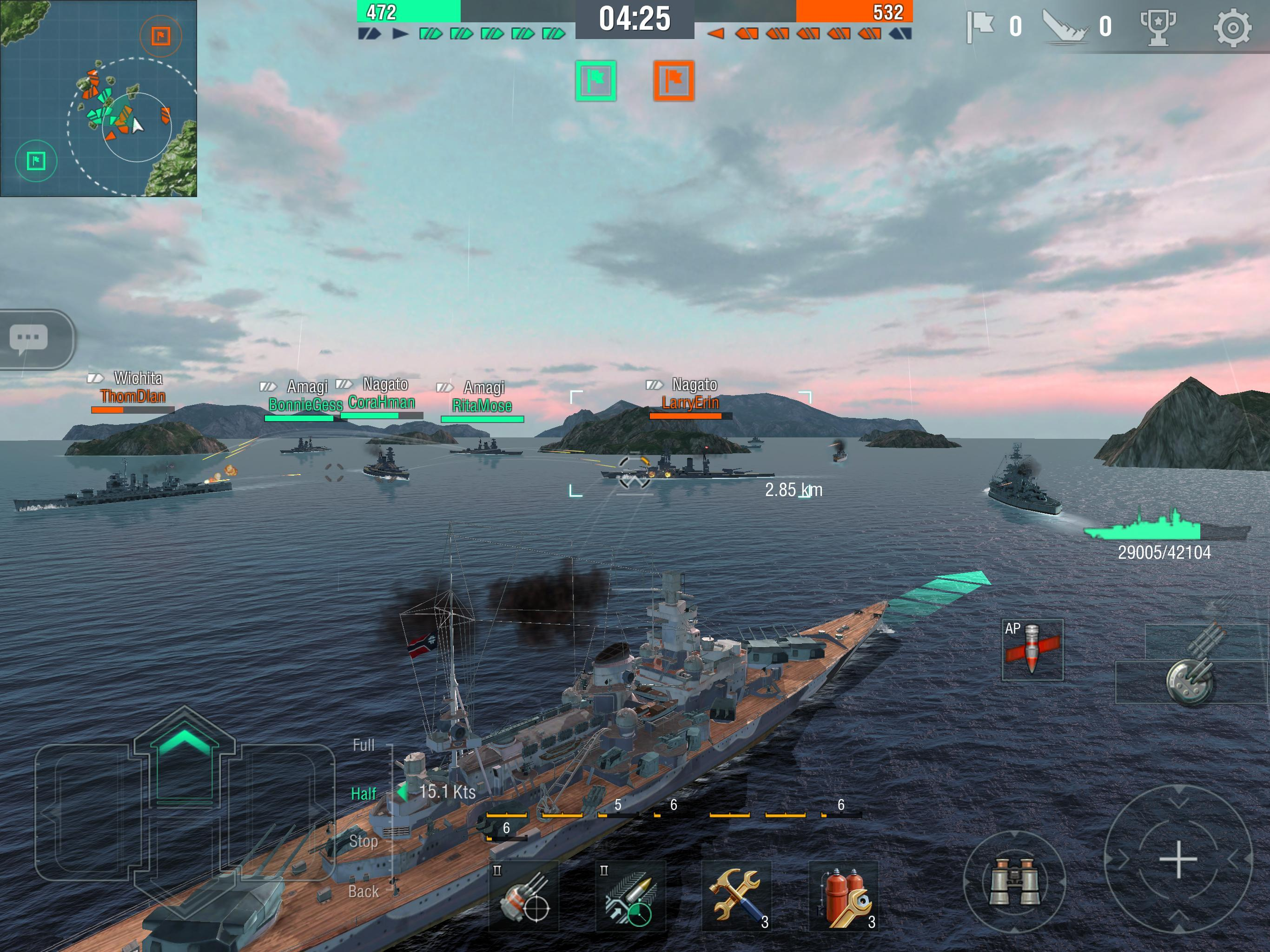 World of Warships Blitz: Gunship Action War Game 3.3.0 Screenshot 12