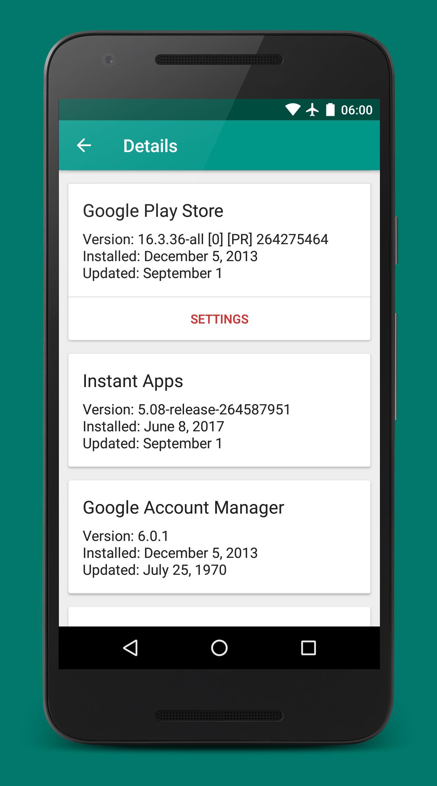 Play Services Info (Update) 0.15 Screenshot 2