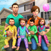 Virtual Mother Baby Quadruplets Family Simulator app icon