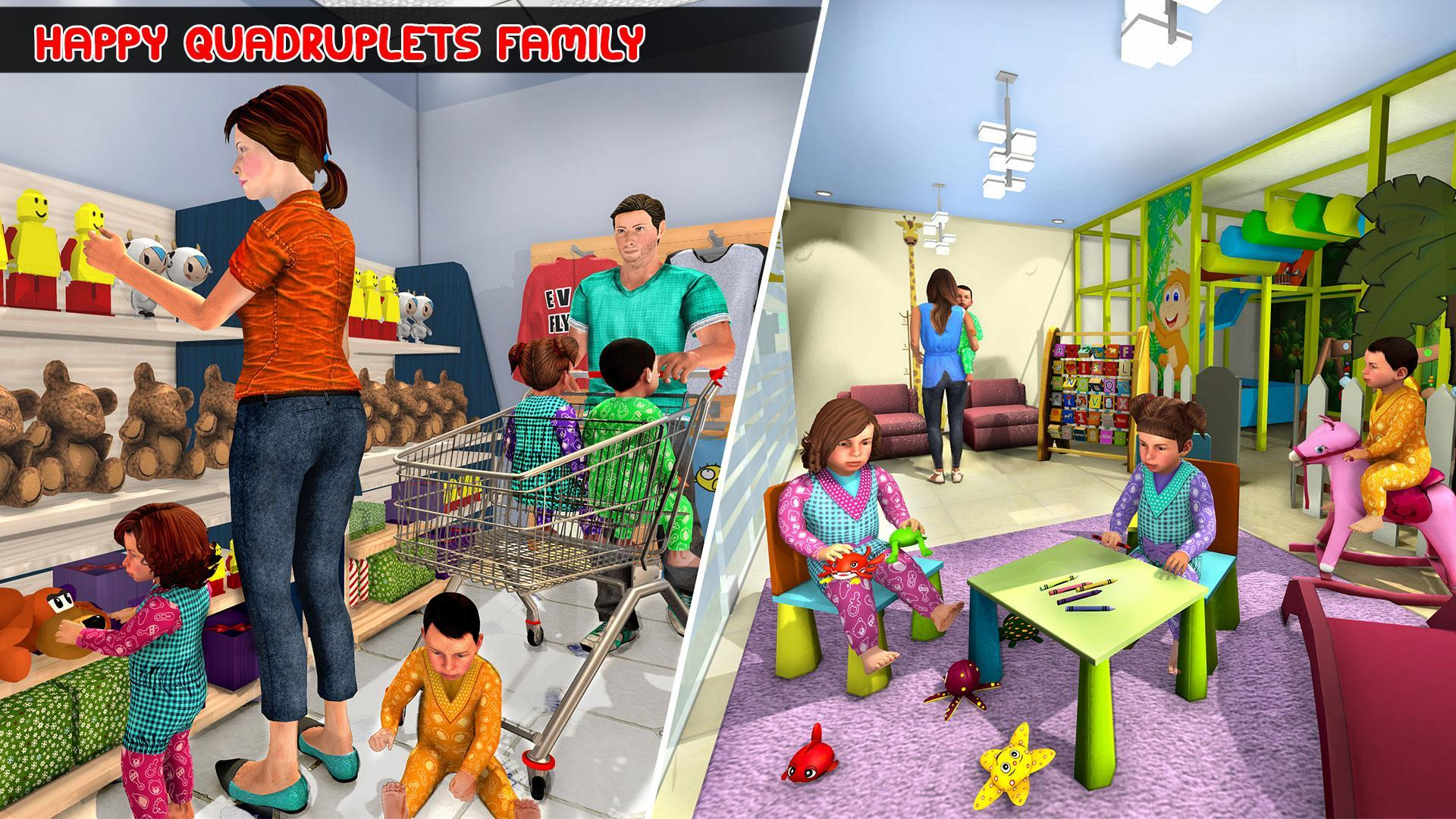 Virtual Mother Baby Quadruplets Family Simulator 1.0.9 Screenshot 1
