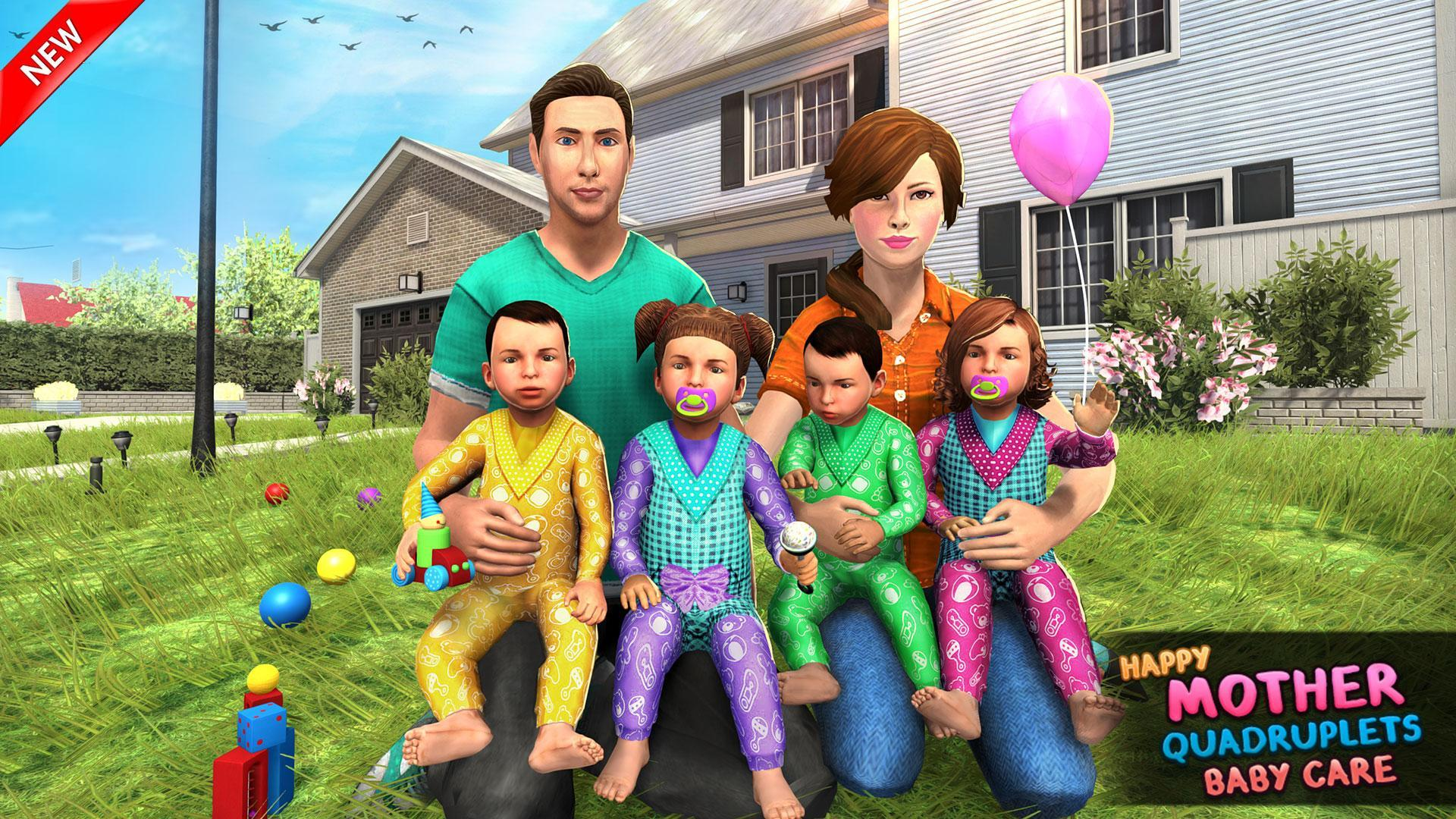Virtual Mother Baby Quadruplets Family Simulator 1.0.9 Screenshot 10