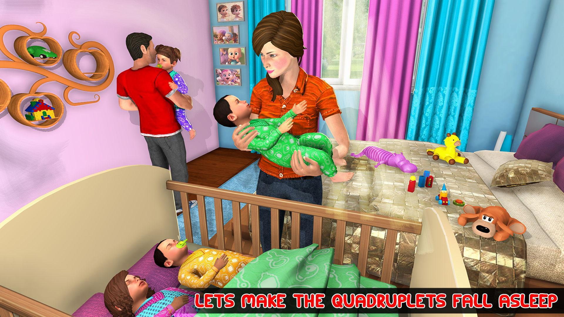 Virtual Mother Baby Quadruplets Family Simulator 1.0.9 Screenshot 2