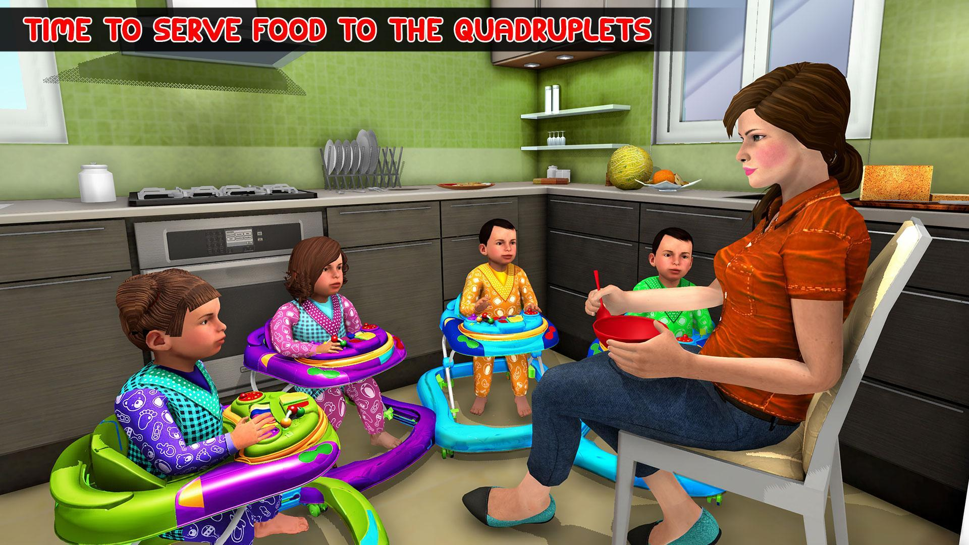 Virtual Mother Baby Quadruplets Family Simulator 1.0.9 Screenshot 3