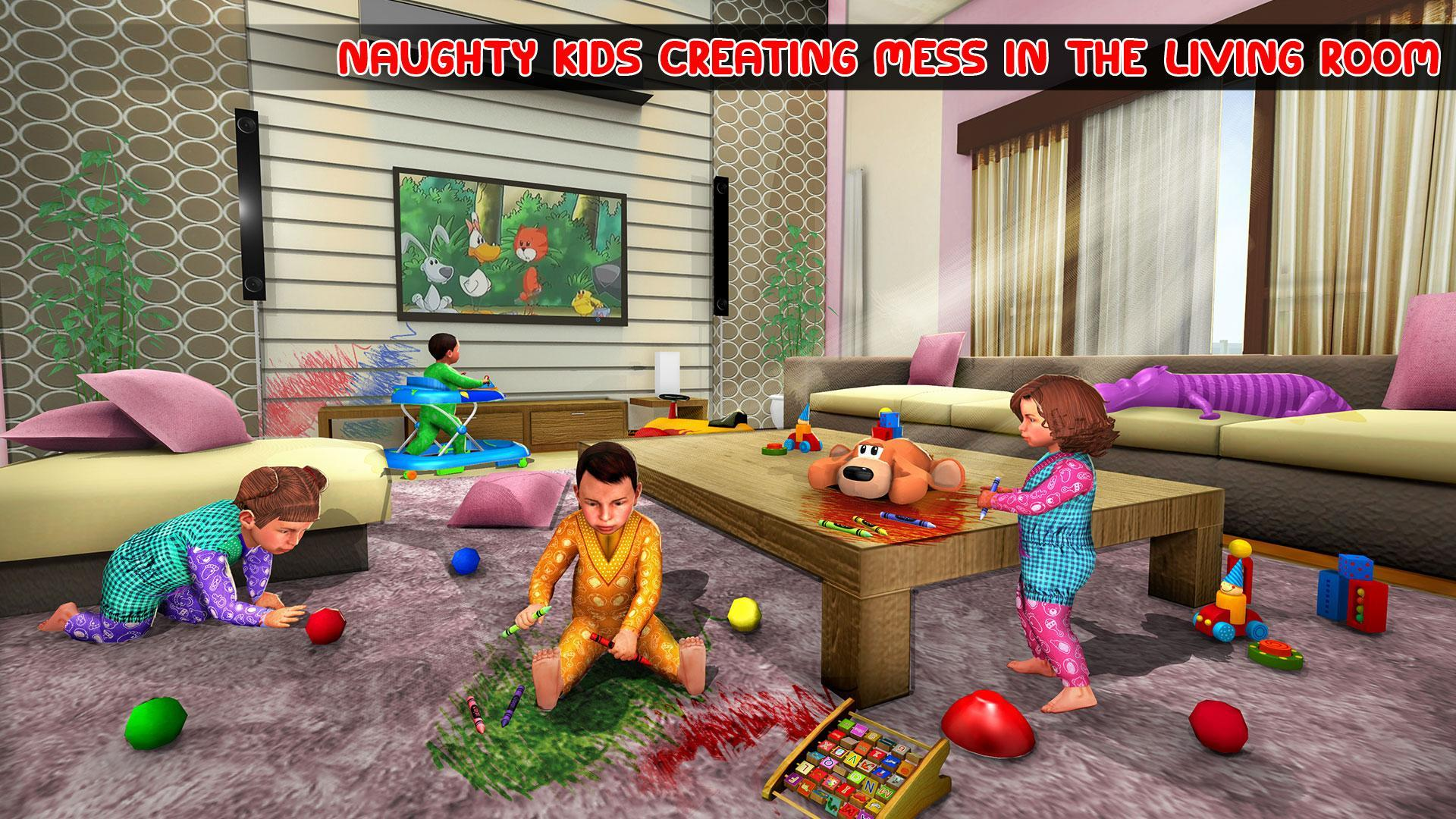 Virtual Mother Baby Quadruplets Family Simulator 1.0.9 Screenshot 4