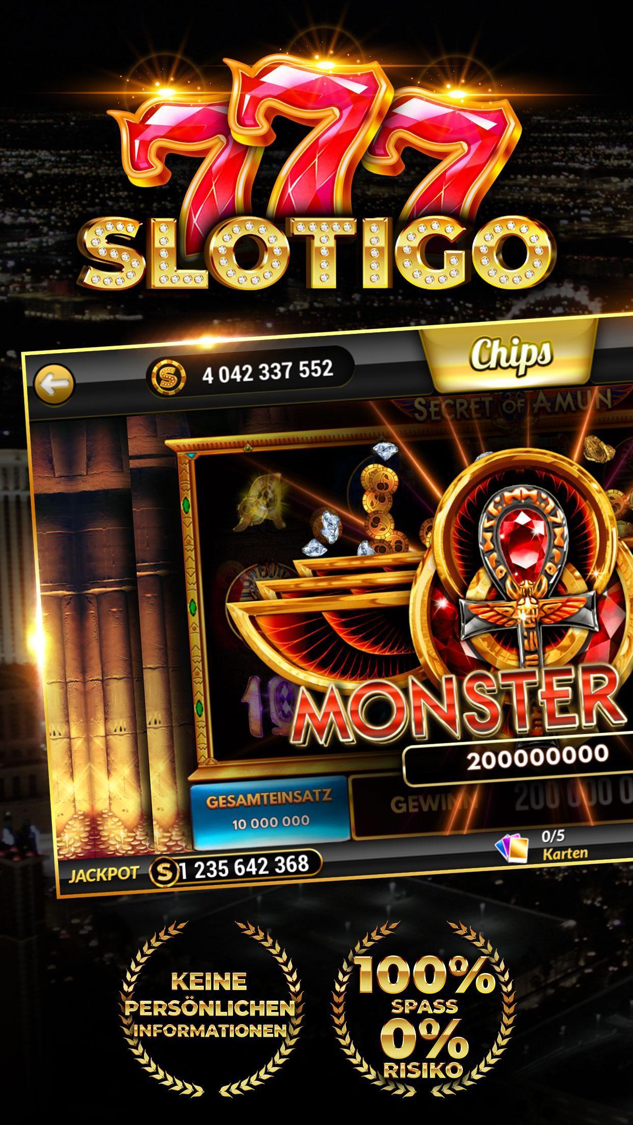 Slotigo Online-Casino, Spielautomaten & Jackpots 4.11.11 Screenshot 1