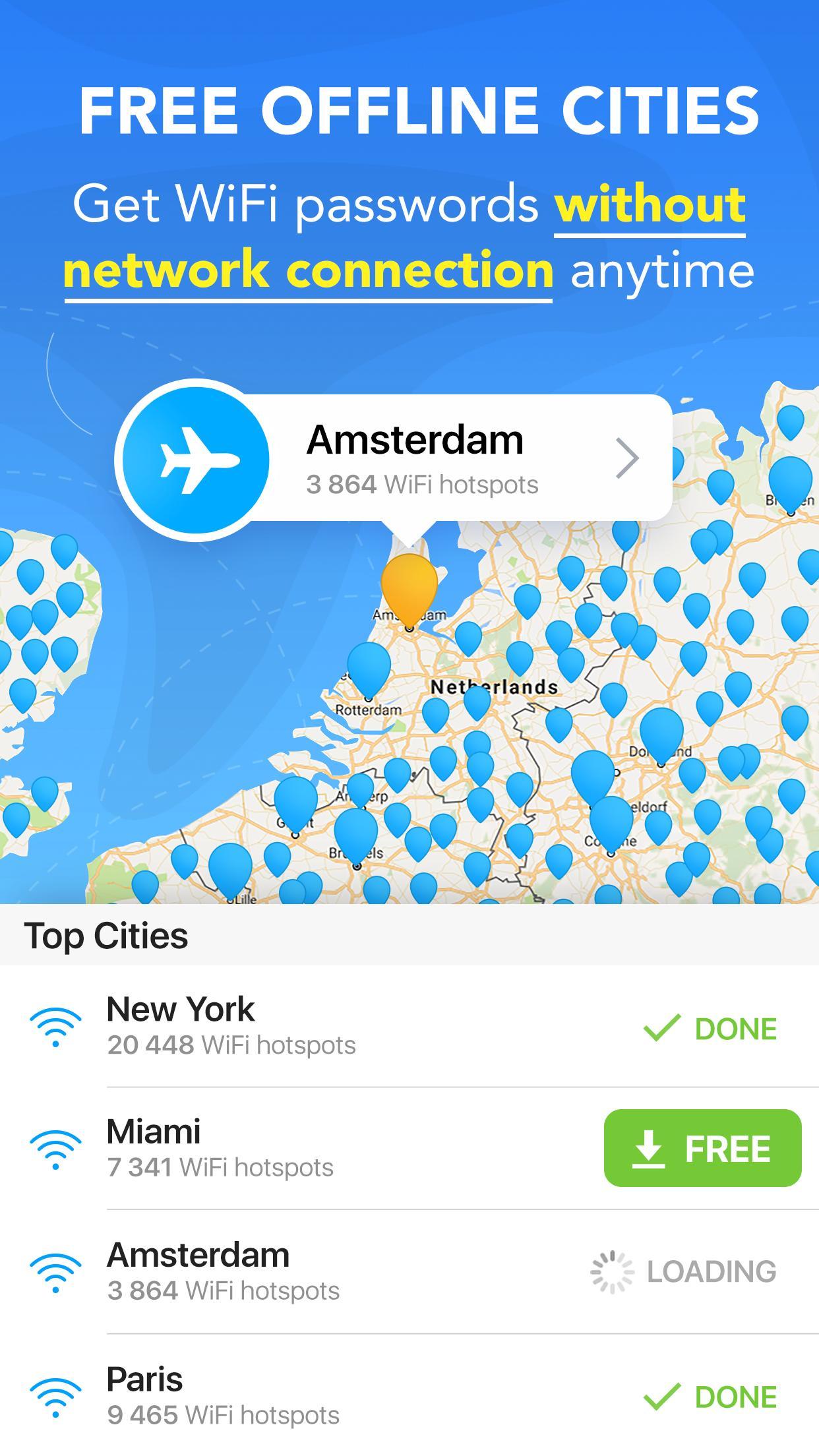 WiFi Map Get Free Internet Passwords & Hotspots 5.4.8 Screenshot 4