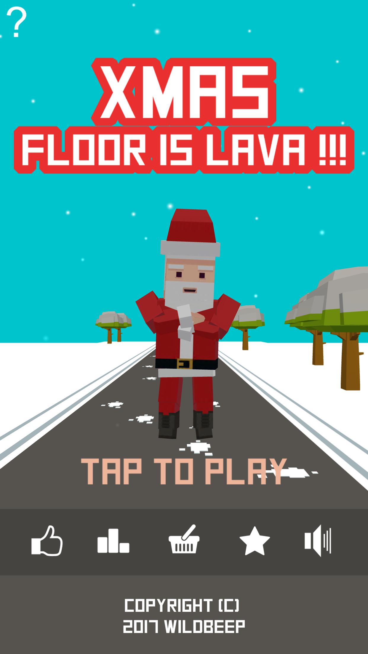 Xmas Floor is Lava Christmas holiday fun 2.6 Screenshot 1