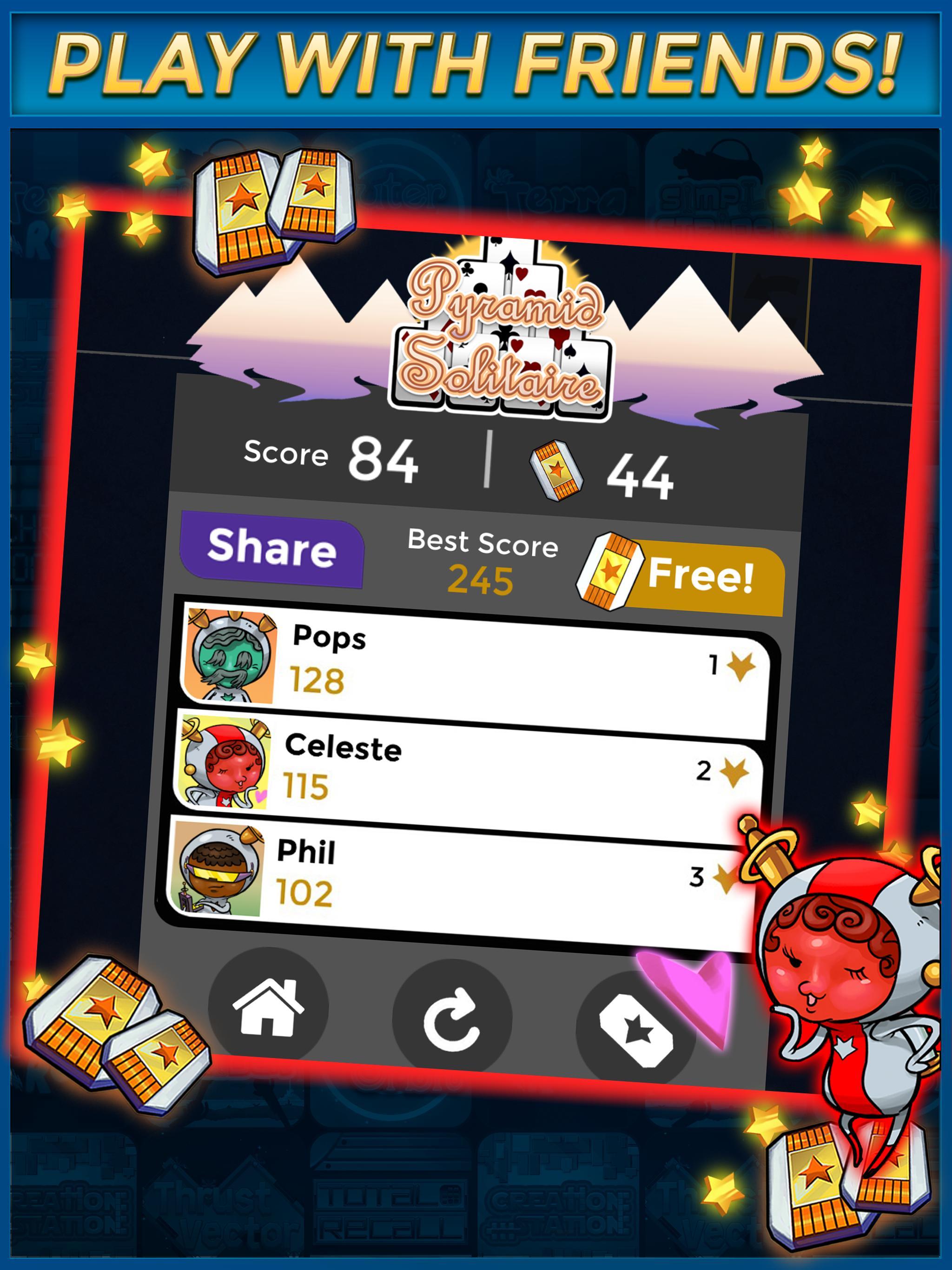 Pyramid Solitaire Make Money Free 1.1.6 Screenshot 10