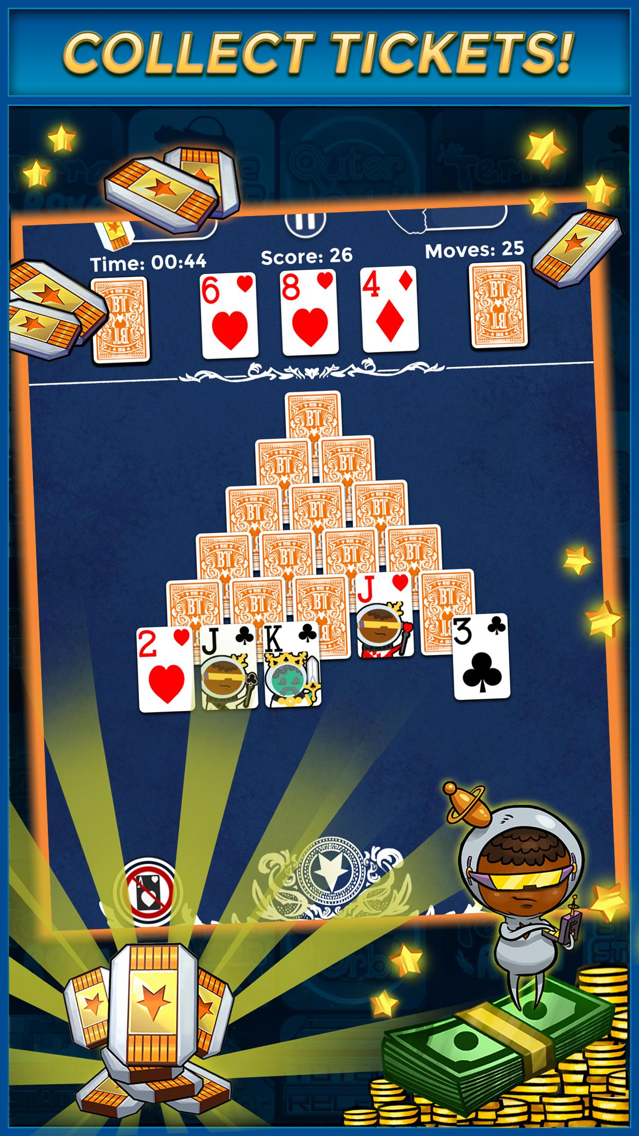 Pyramid Solitaire Make Money Free 1.1.6 Screenshot 2