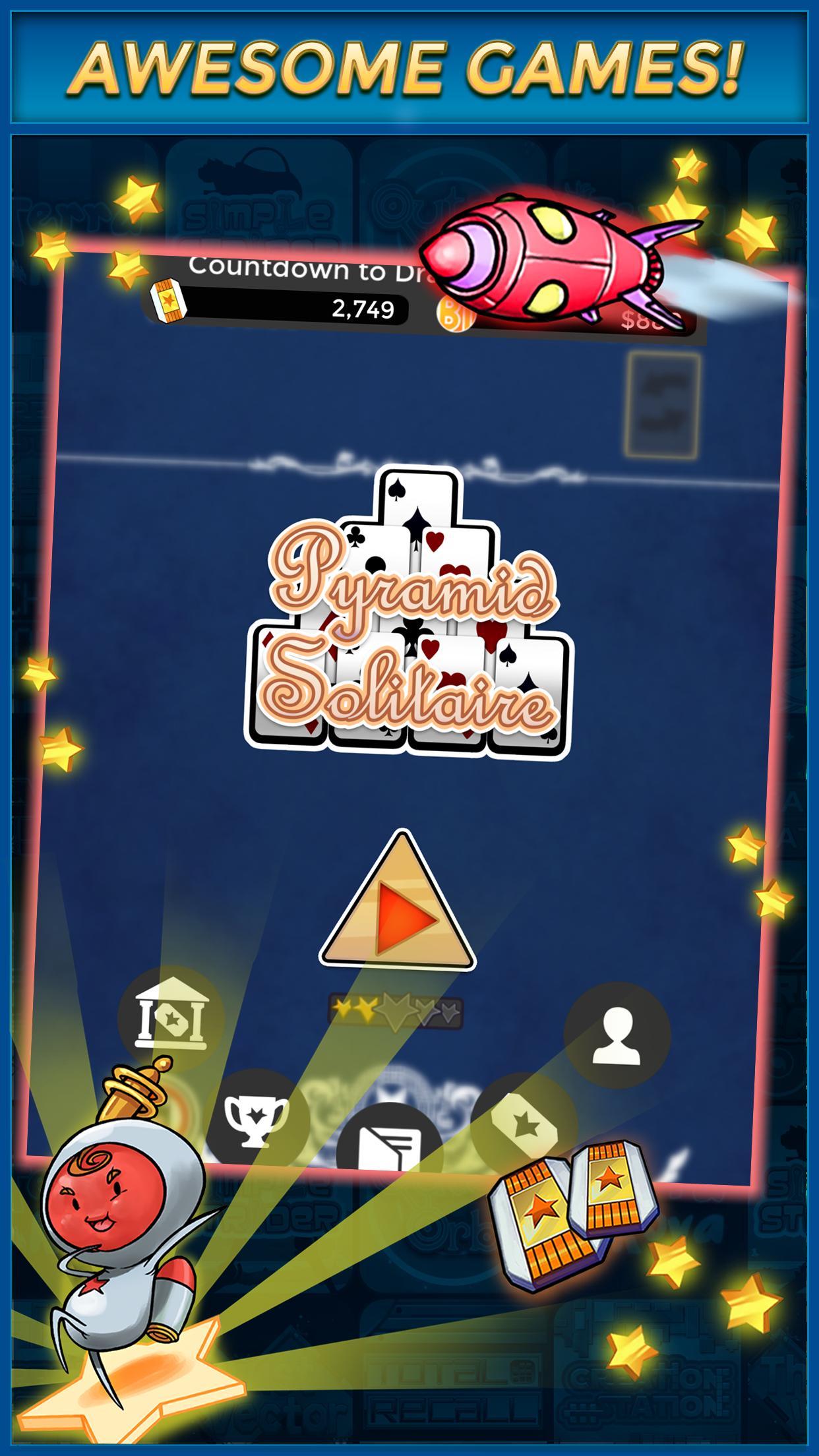 Pyramid Solitaire Make Money Free 1.1.6 Screenshot 3