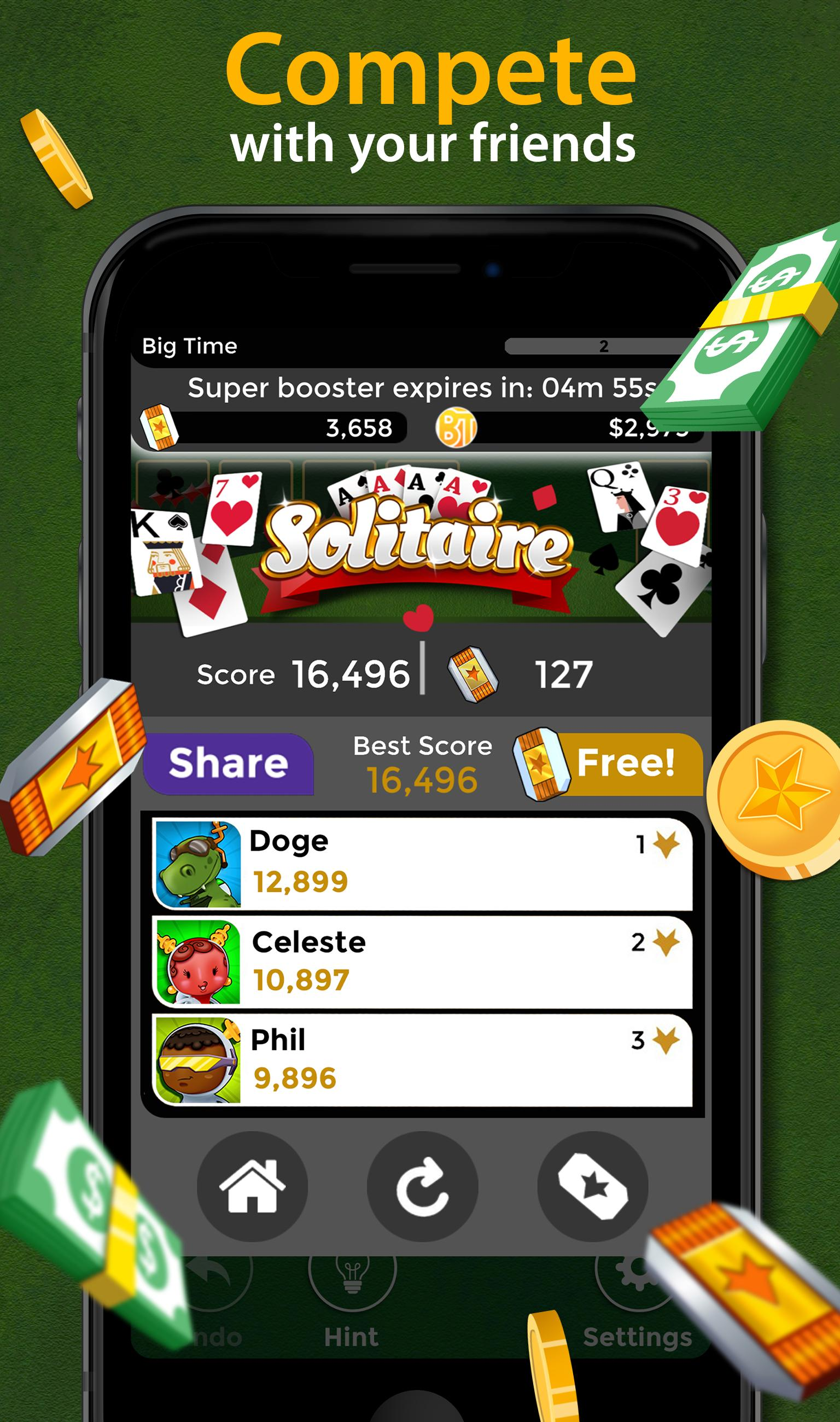 Solitaire Make Free Money and Play the Card Game 1.8.5 Screenshot 5