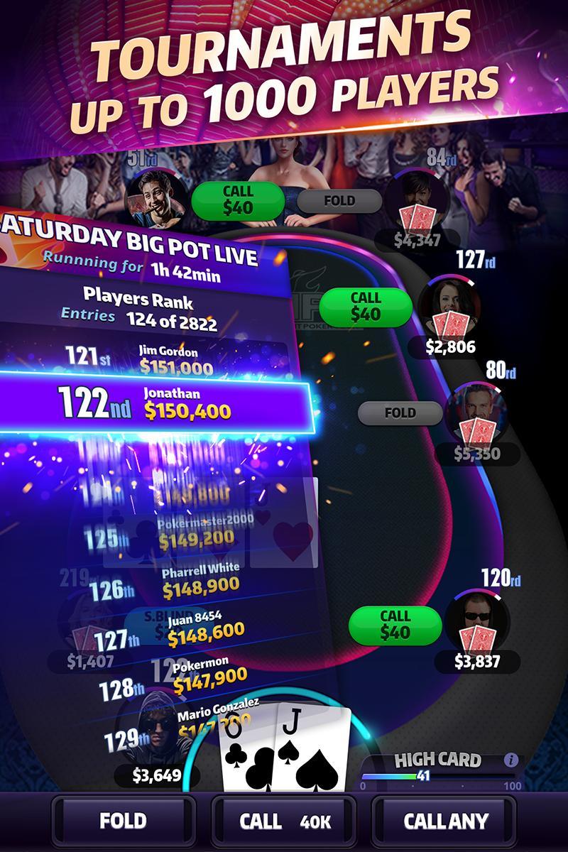 Mega Hit Poker Texas Holdem massive tournament 3.10.6 Screenshot 4