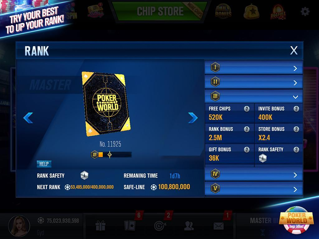 Poker World Mega Billions 2.052.2.052 Screenshot 5