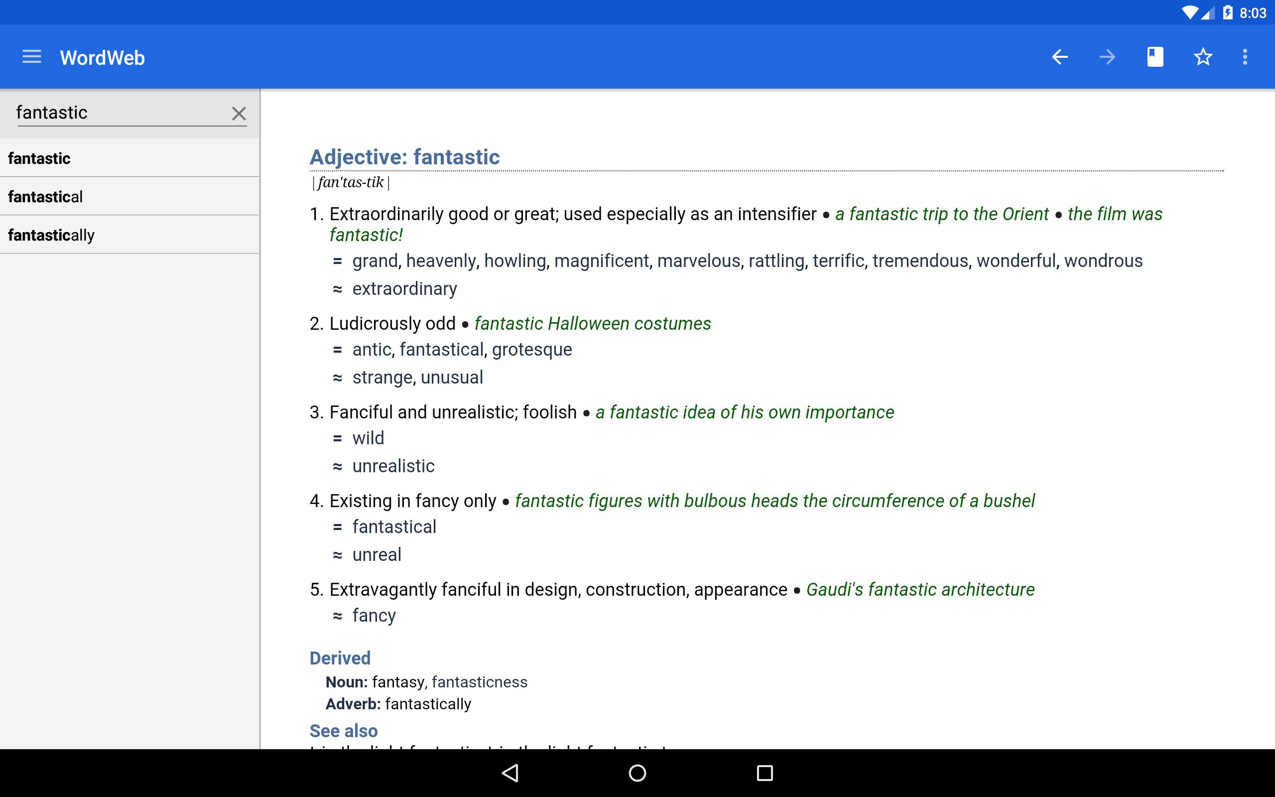Dictionary - WordWeb 3.71 Screenshot 6