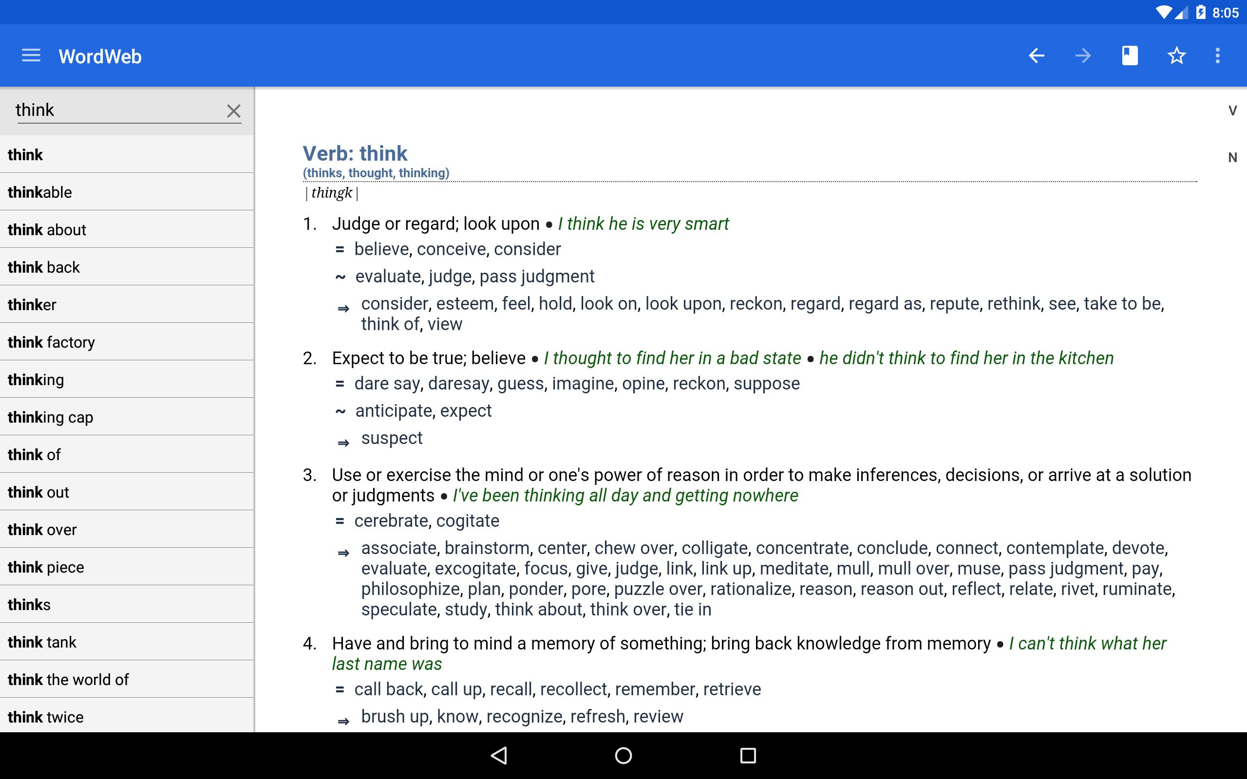 Dictionary - WordWeb 3.71 Screenshot 7