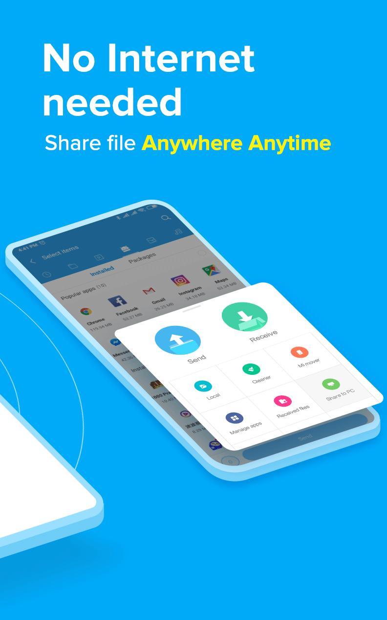 ShareMe 1 file sharing & data transfer app 1.28.27 Screenshot 2
