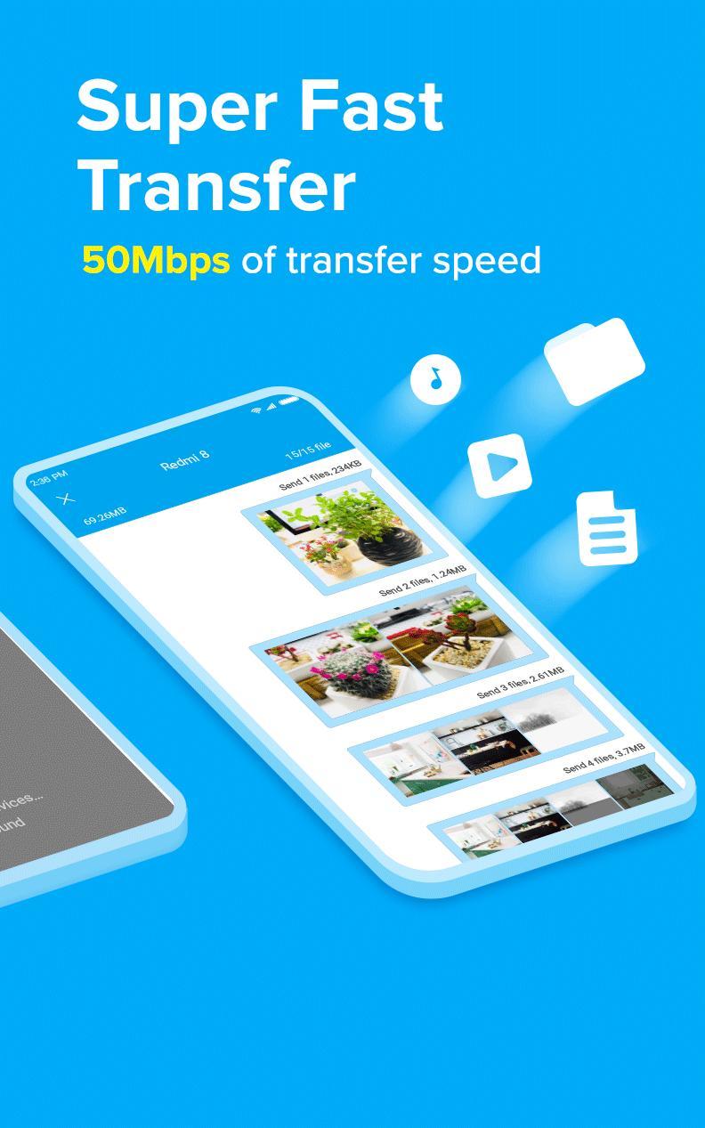 ShareMe 1 file sharing & data transfer app 1.28.27 Screenshot 4