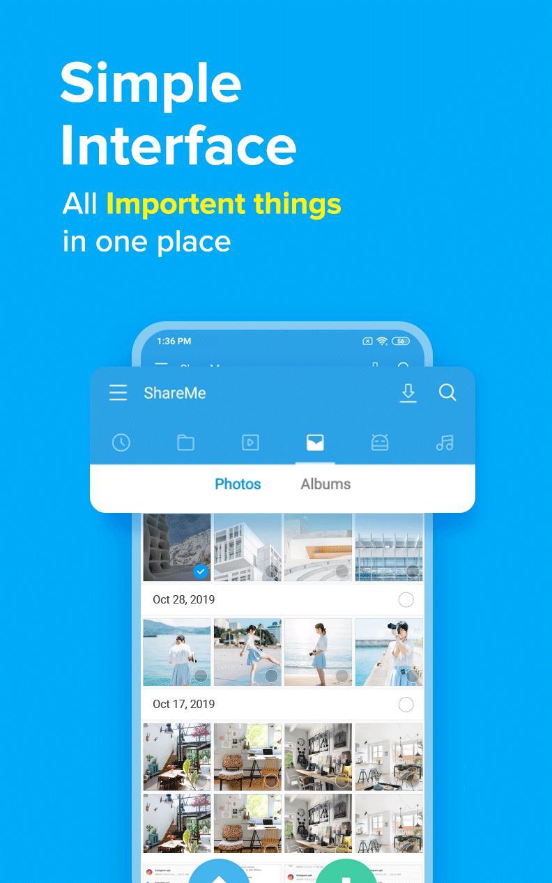 ShareMe 1 file sharing & data transfer app 1.28.27 Screenshot 5
