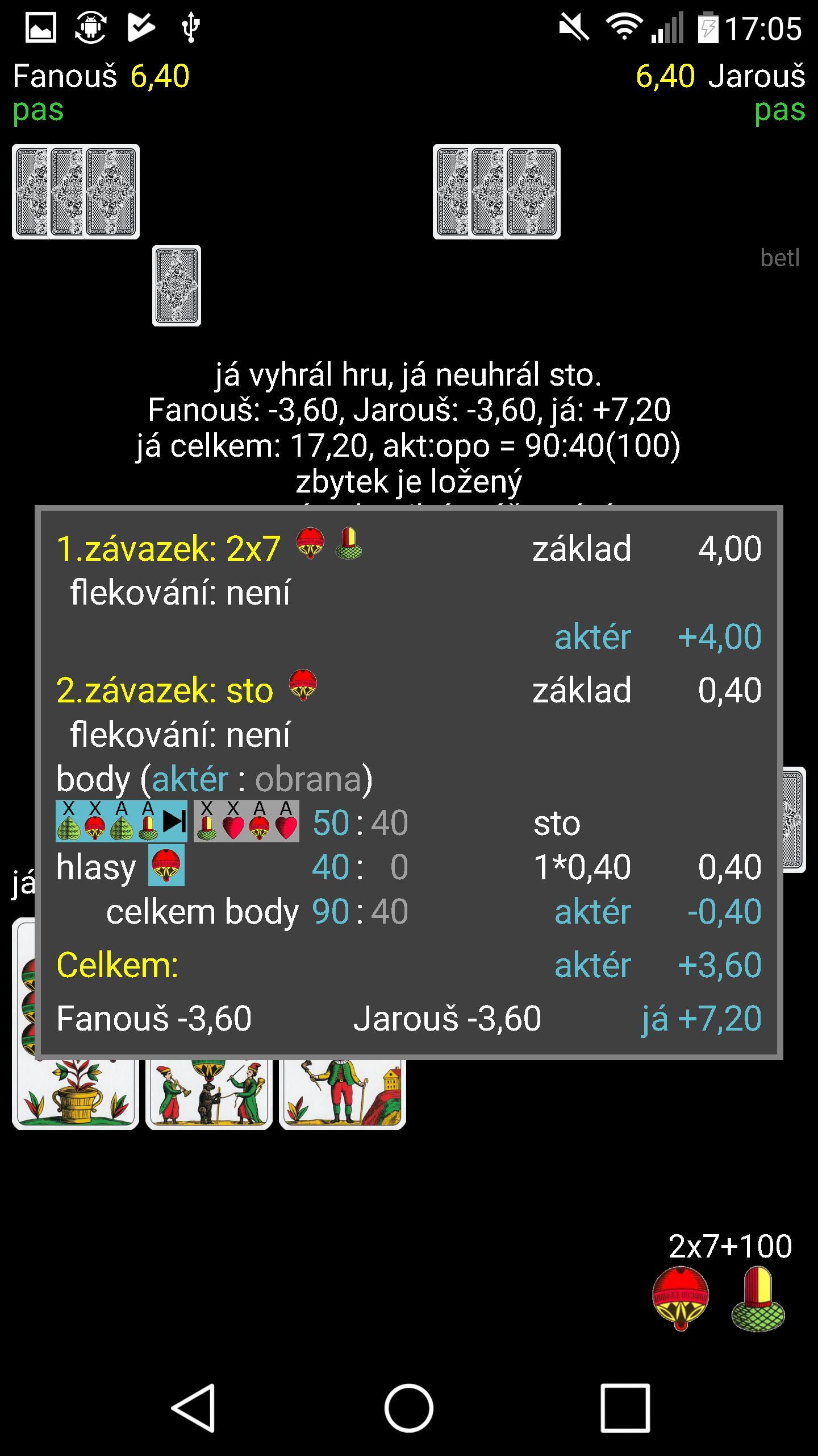 Mariáš 2.07 Screenshot 4