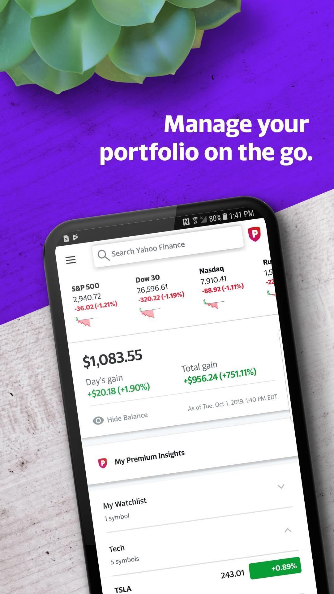Yahoo Finance 10.4.8 Screenshot 1