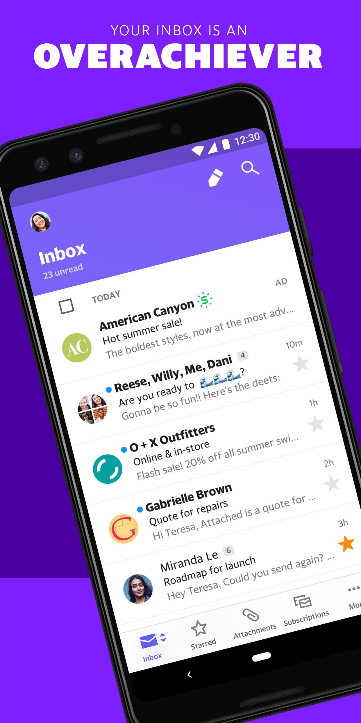 Yahoo Mail – Organized Email 6.2.4 Screenshot 1
