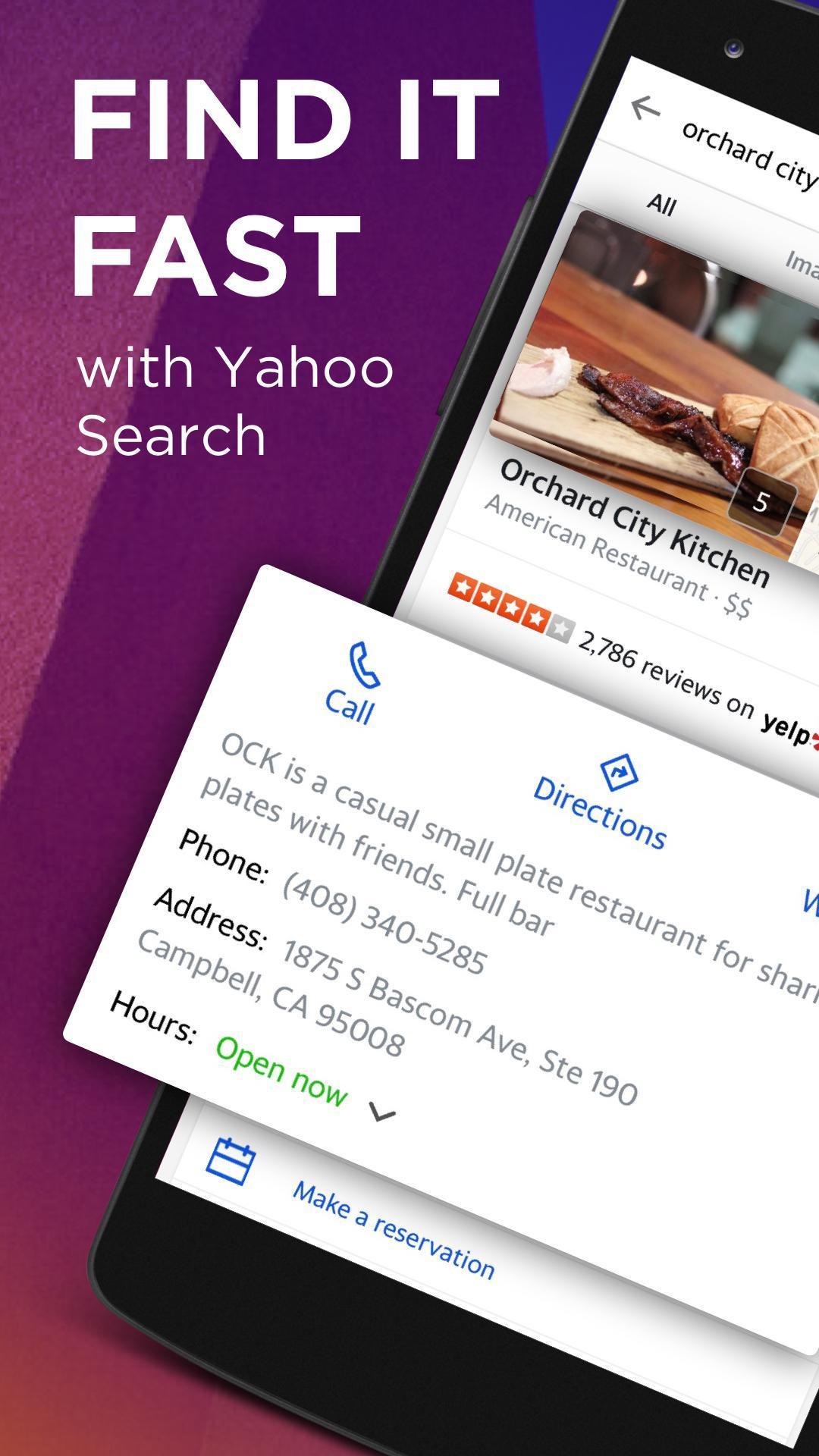 Yahoo Search 5.9.4 Screenshot 1