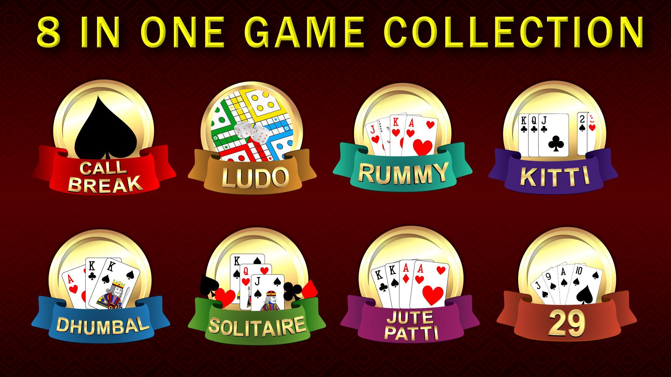 Callbreak, Ludo, Rummy, 29 & Solitaire Card Games 2.8 Screenshot 1