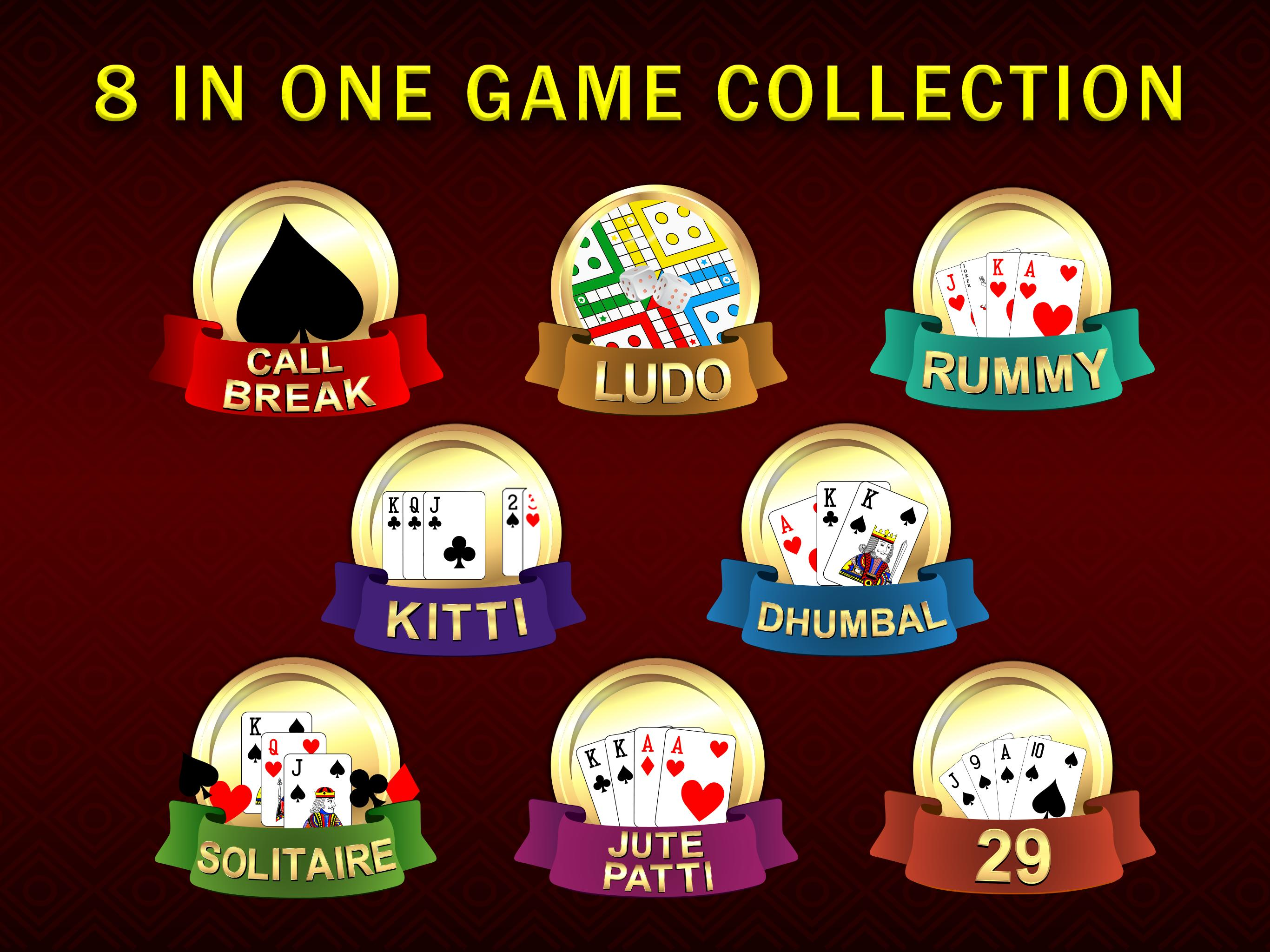 Callbreak, Ludo, Rummy, 29 & Solitaire Card Games 2.8 Screenshot 9