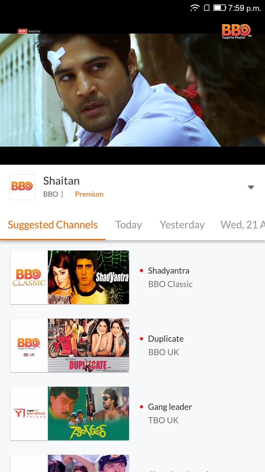 YuppTV LiveTV Movies Shows 7.7.2 Screenshot 3