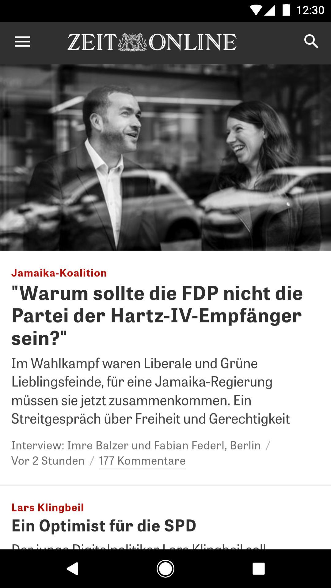 ZEIT ONLINE Nachrichten 1.9.6 Screenshot 1