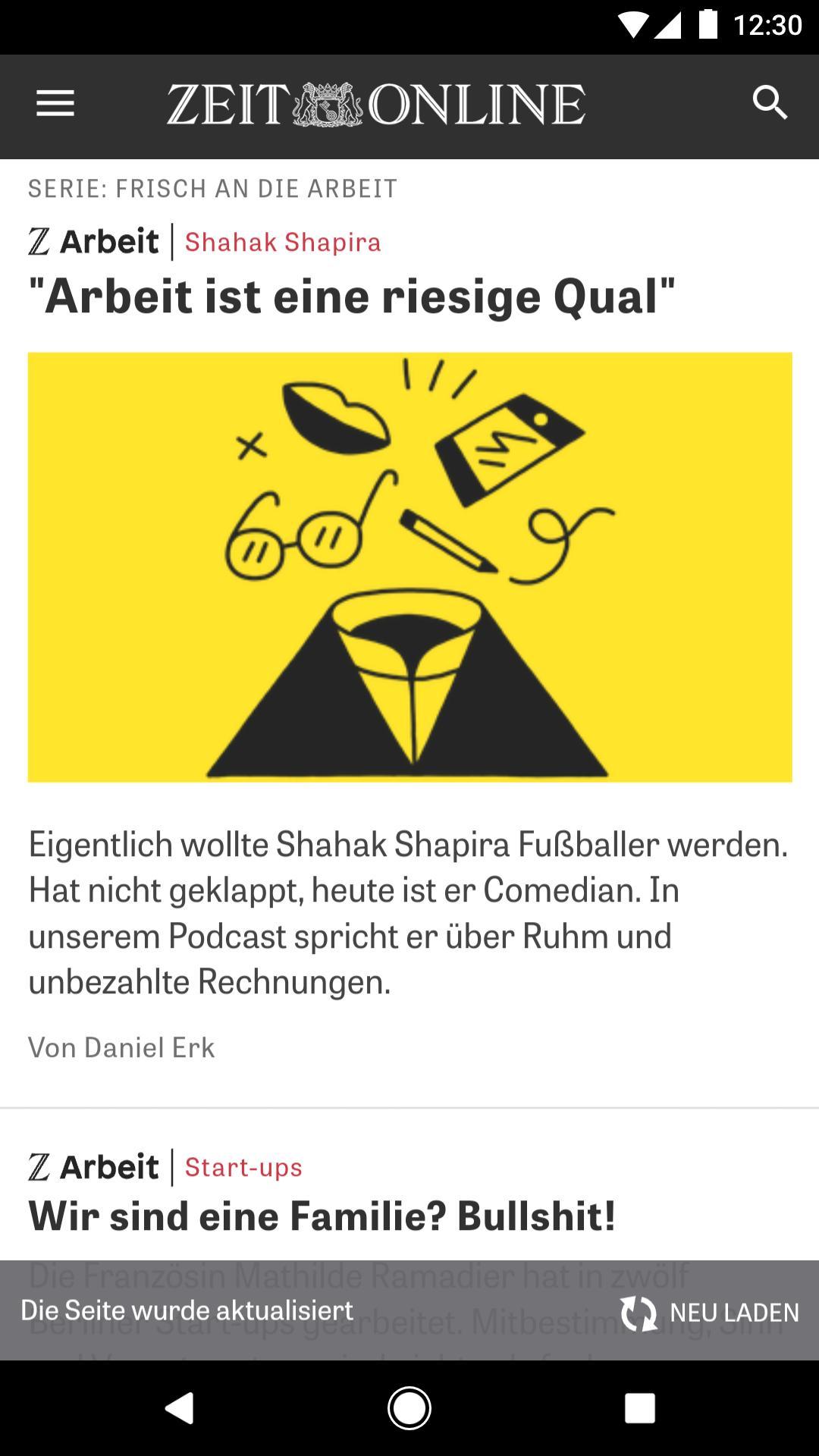 ZEIT ONLINE Nachrichten 1.9.6 Screenshot 3