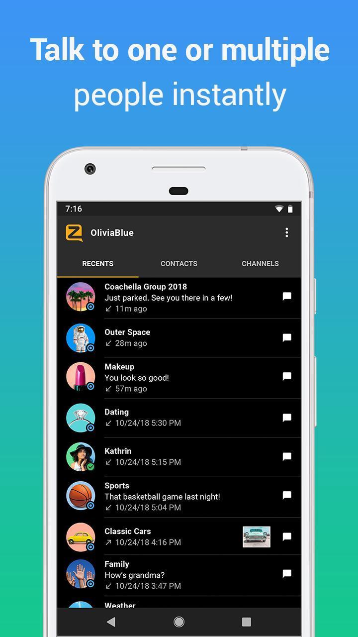 Zello PTT Walkie Talkie 4.78 Screenshot 5