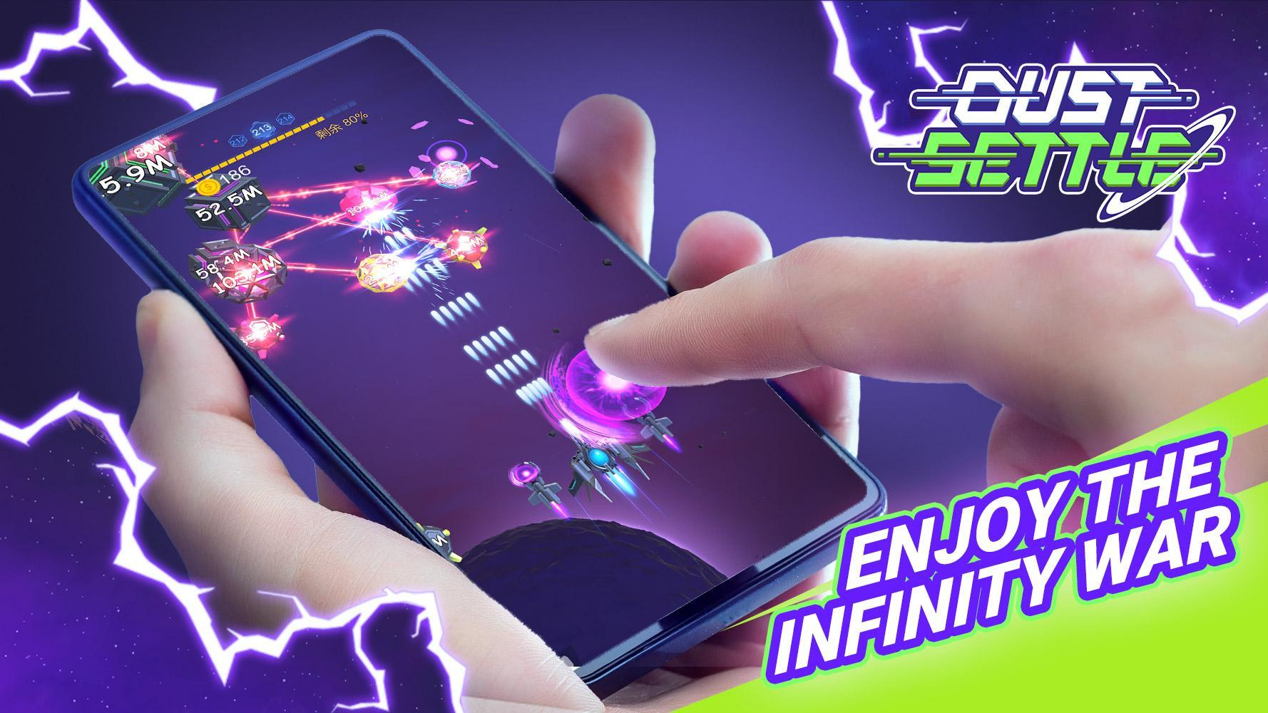 Dust Settle 3D-Infinity Space Shooting Arcade Game 1.49 Screenshot 1